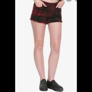 Blackheart Hot Topic Red Wash Mid rise Shorts